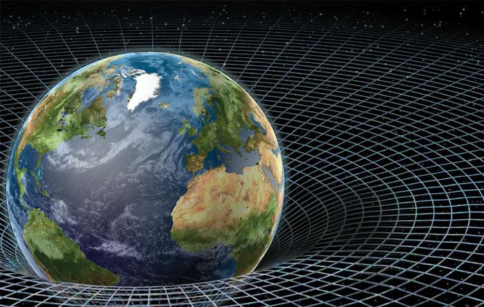 نسبیت عام میگوید که جرم میتواند فضا-زمان را خم کند و این همان گرانش است