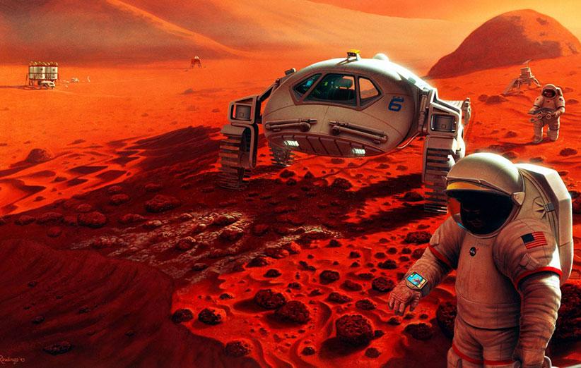 انسان 20 سال دیگر به مریخ قدم میگذارد
