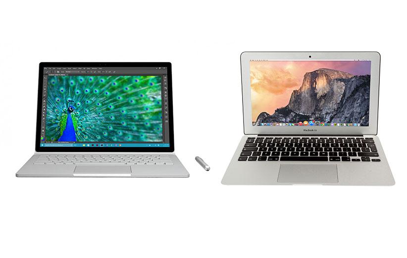 مقایسه سختافزاری سرفیس بوک با مکبوک پرو