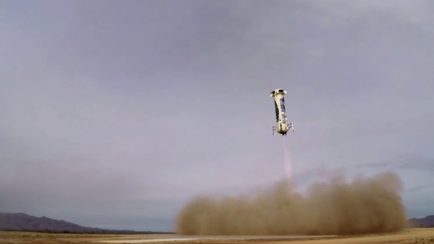 The propulsion unit also landed safely, lowering itself vertically