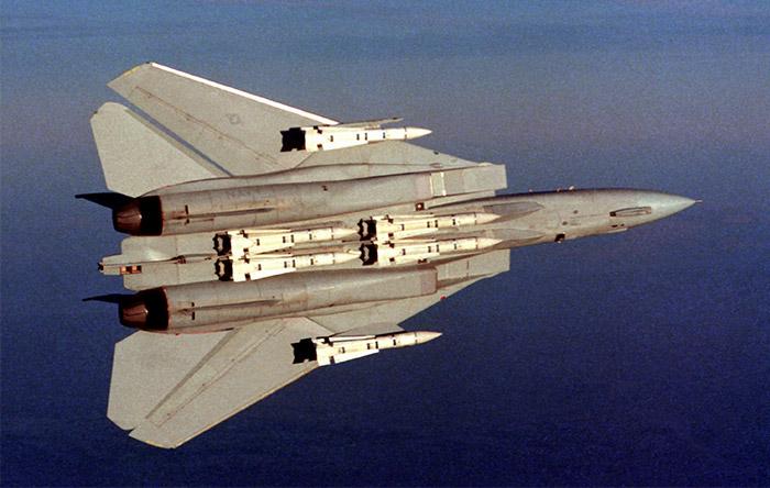 تامکت میتوانست ۶ موشک دوربرد هدایت راداری فینیکس حمل کند