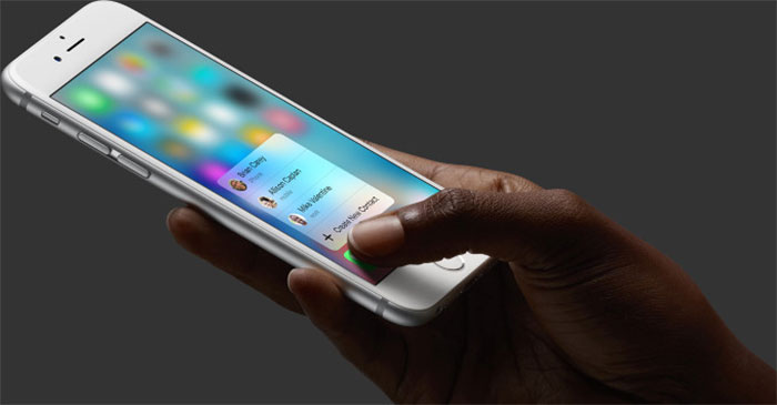 3D Touch در آیفون