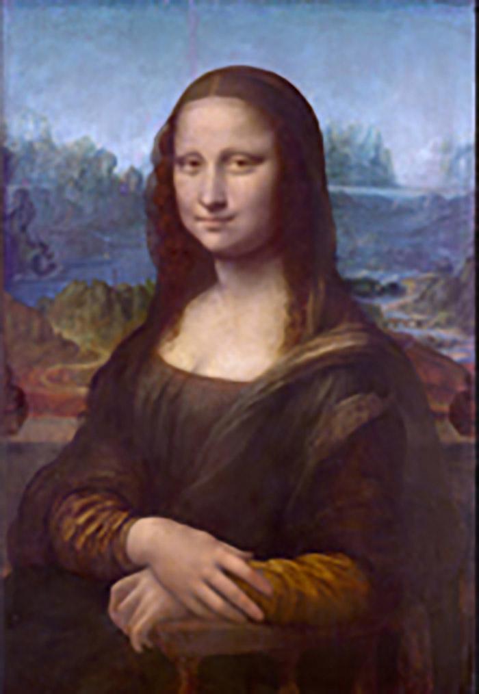 رنگهای اصلی تابلوی مونالیزا