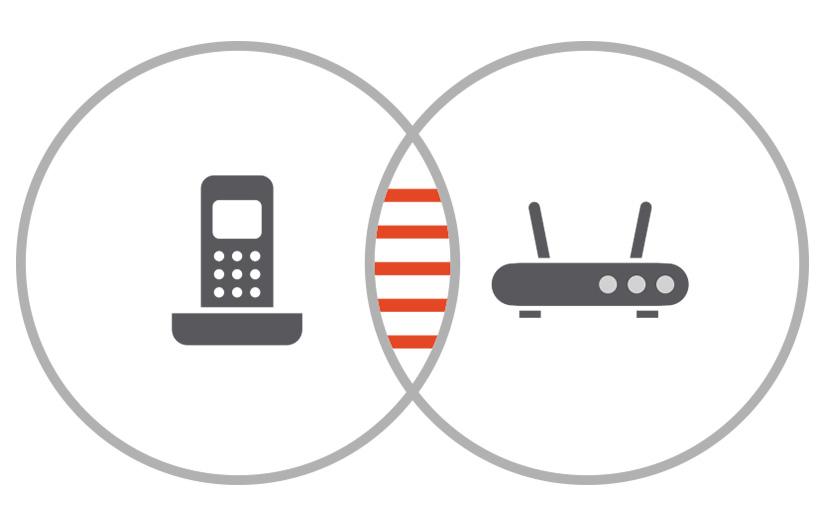 چرا امواج مودمهای Wi-Fi با تلفنهای بیسیم تداخل دارند؟