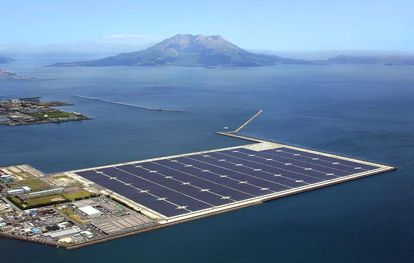 ساخت بزرگترین نیروگاه خورشیدی شناور دنیا در ژاپن