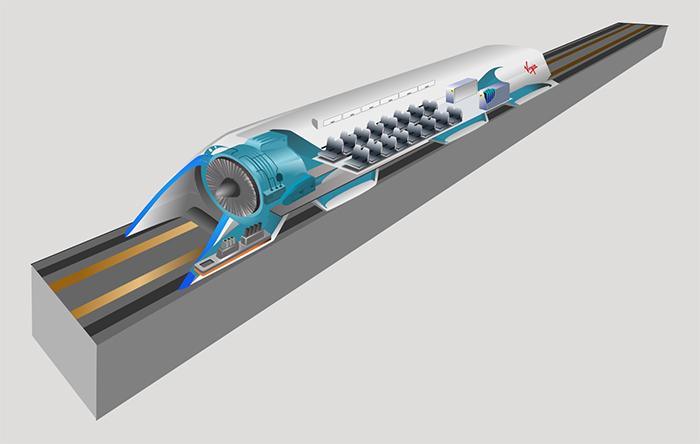 واگن، کپسول یا Pod هایپرلوپ قسمتی است که مسافران در آن مینشینند. جلوی آن هم یک مکندهی هوا قرار دارد که همان اندک هوایی که در تونل باقی مانده هم مقاومت ایجاد نکند.
