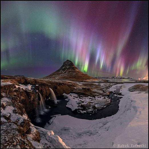شفقهای قطبی برفراز آیسلند. عکس از بابک امین تفرشی