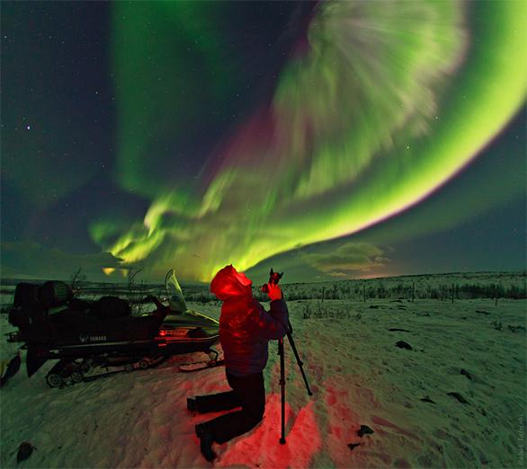 عکاس شفق قطبی. عکس از بابک امین تفرشی