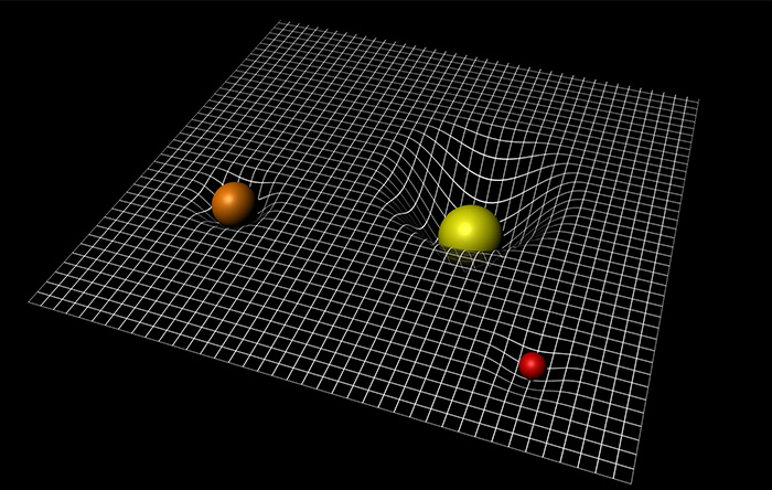 نسبیت عام اینشتین گرانش را بر اساس خمیدگی فضا-زمان توضیح میدهد. ولی در جهان زیراتمی کار نمیکند.