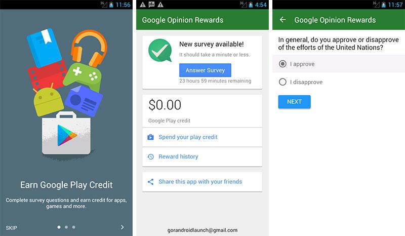 ۲۱ اپلیکیشن اندروید - Google Opinion Rewards
