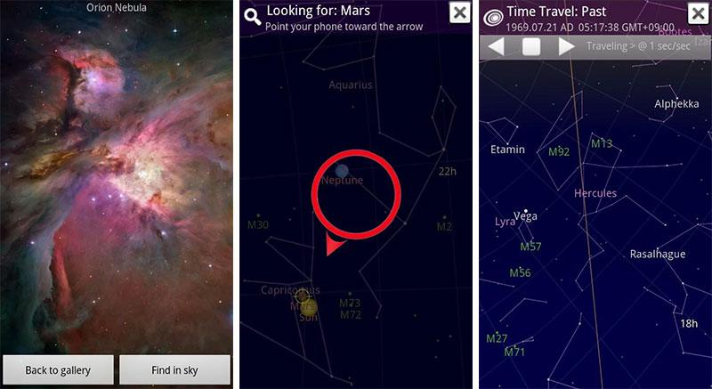 ۲۱ اپلیکیشن اندروید - Sky Map