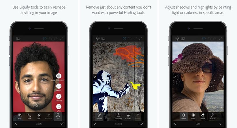 اپلیکیشن آیفون iOS - Photoshop Fix