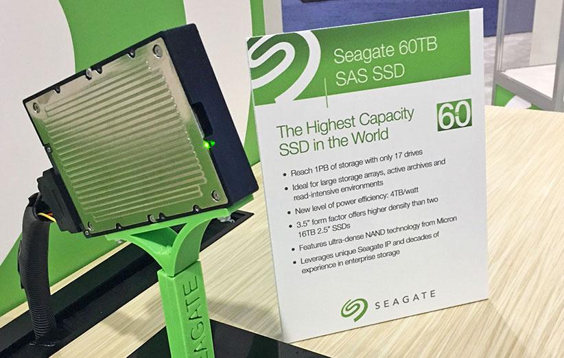 Seagate از حافظهی SSD جدید ۶۰ ترابایتیاش رونمایی کرد