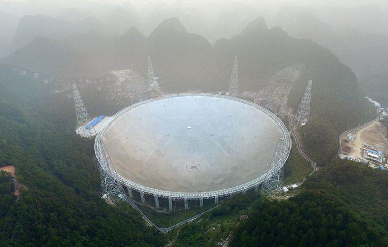 چین بزرگترین تلسکوپ جهان را با قطر نیم کیلومتر افتتاح کرد