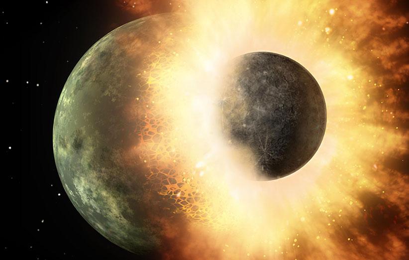 تصادف زمین با سیاره سرگردان باعث پیدایش حیات شد