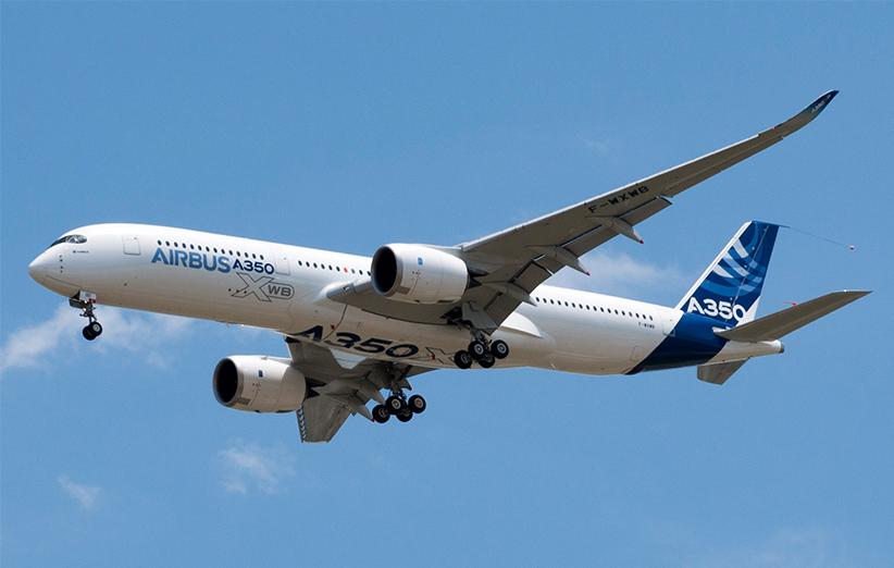 A350 XWB هواپیمای بسیار جدید و پیشرفته ایست که عموما برای پروازهای خارجی به کار گرفته می شود.