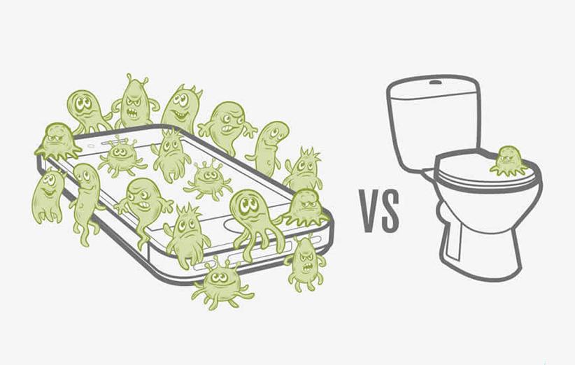 گوشیها و کیبوردهای ما چقدر آلوده هستند؟