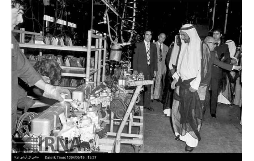 بازدید حاکم دبی از کارخانهی ایرانناسیونال در سال ۱۳۵۳
