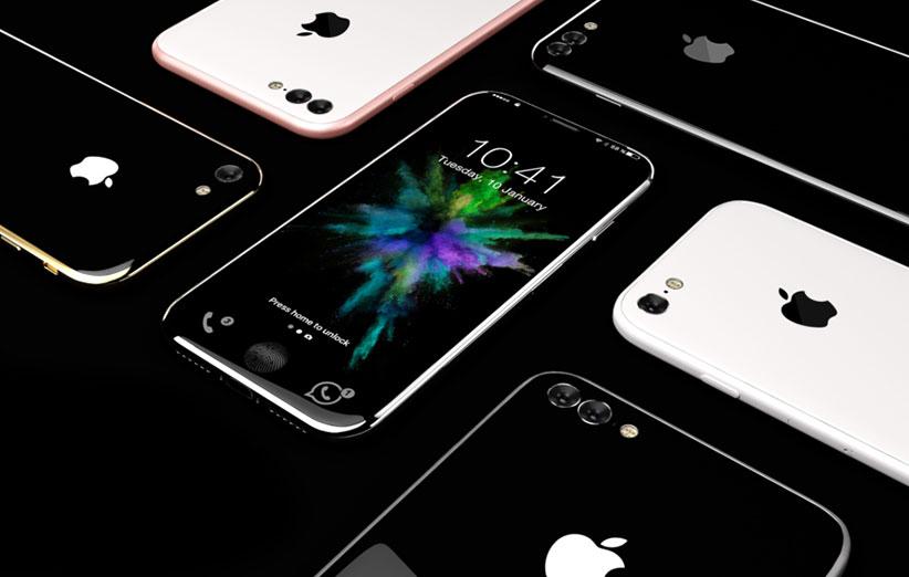 شاید طراحی گوشی اپل آیفون ۸ این شکلی باشد