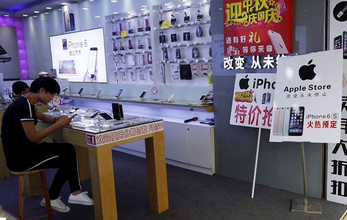 بسیاری از فروشگاهها در حالی که هیچ اجازهای از شرکت اپل برای فروش محصولات این شرکت ندارند، محصولات اپل را میفروشند.