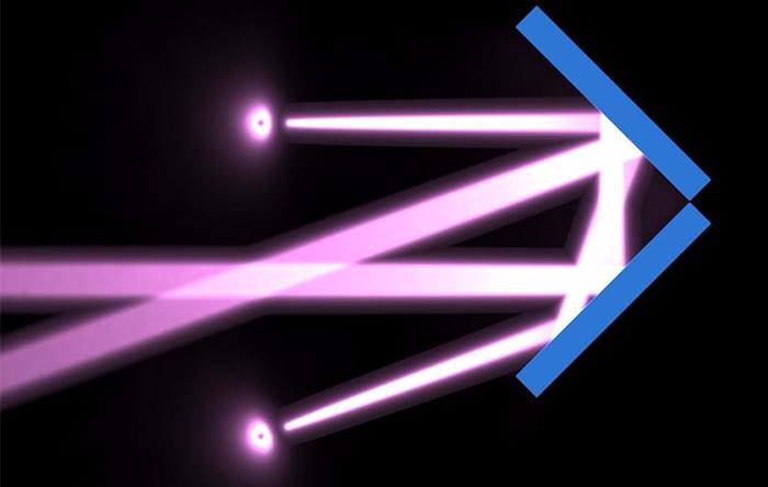 نور از سطح آینده در مسیرهای خیلی دقیق بازتاب میکند