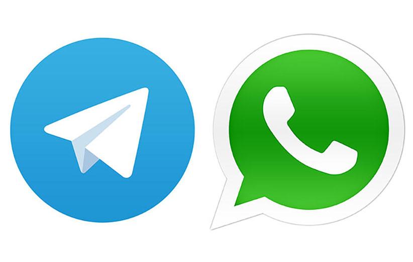 برنامه های whatsapp و telegram
