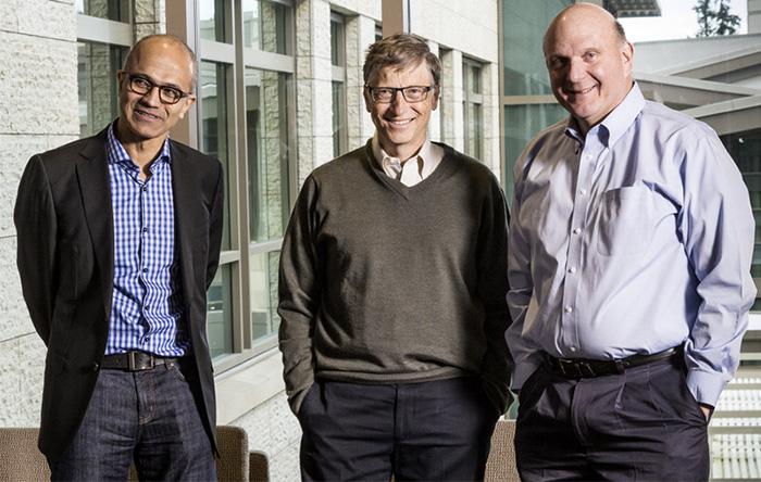 سه مدیرعامل مایکروسافت