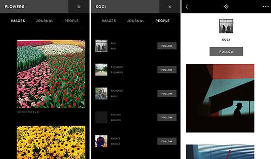 اپلیکیشن VSCO - انتشار عکس - عکاسی موبایل ۰۶
