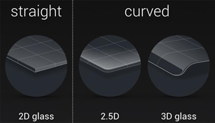 زنفون ۳ مجهز به شیشهی 2.5D است. این شیشه خمیدگی خیلی مختصری دارد.