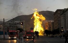 انفجار لوله گاز و قطع شبکه همراه اول