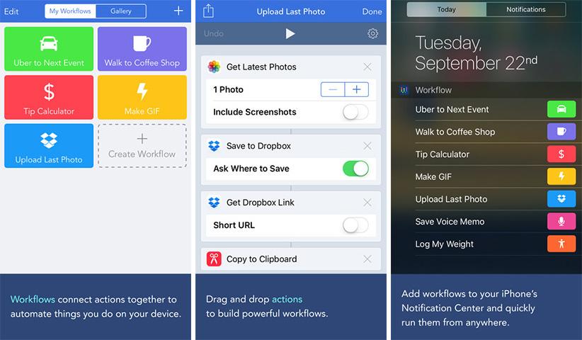 اپلیکیشن آیفون iOS - Workflow