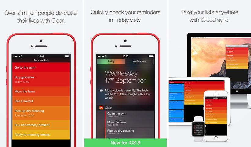 اپلیکیشن آیفون iOS - Clear