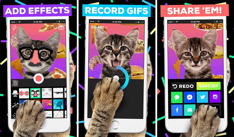 اپلیکیشن آیفون iOS - Giphy Cam
