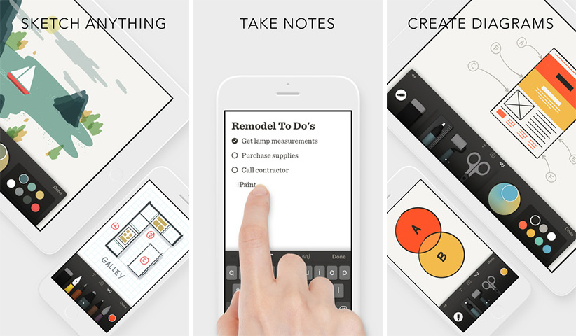 اپلیکیشن آیفون iOS - Paper