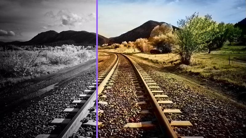 ۰۷ - تبدیل عکس سیاه و سفید به عکس رنگی