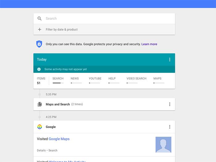 ۰۱ - حفظ حریم شخصی در گوگل