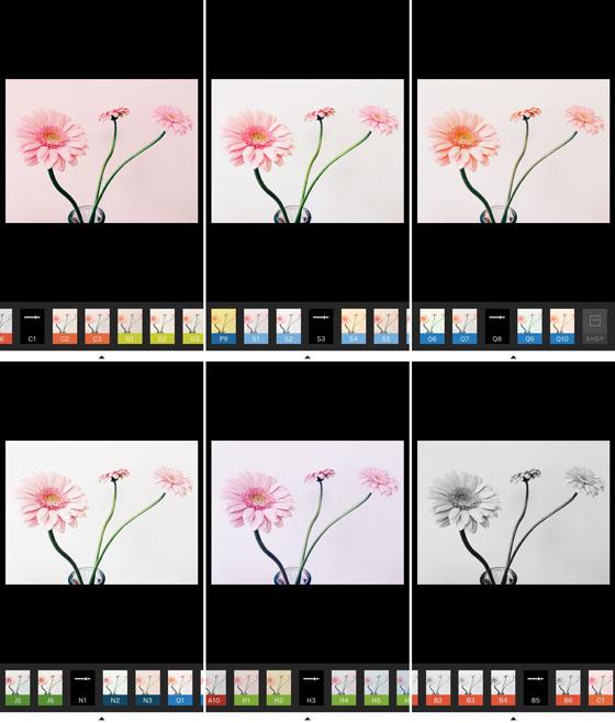 ۱۲ - فیلترهای اپلیکیشن VSCO