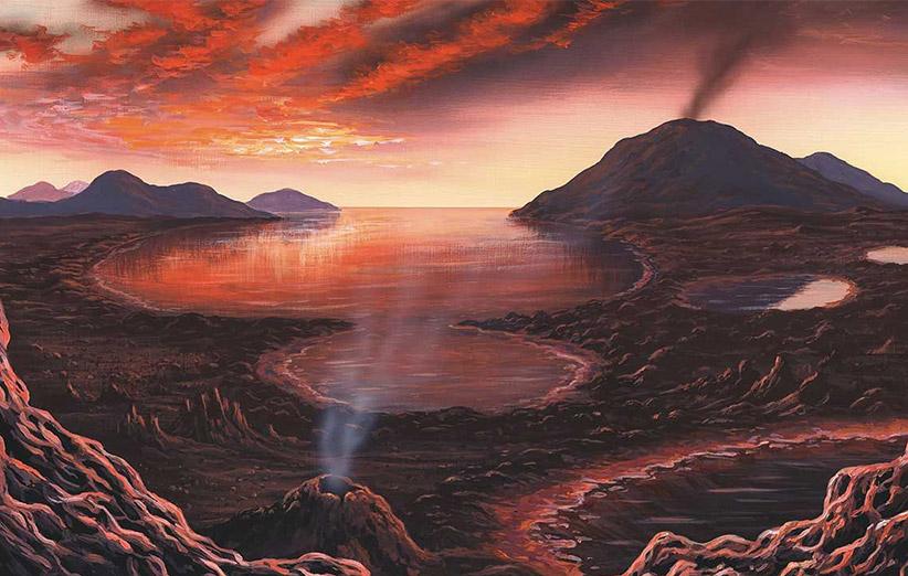 زمین اولیه شرایطی کاملا جهنمی داشت. ولی به نظر میرسد که حیات در همین محیط توانسته بوجود بیاید.