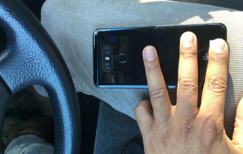 عکس جدید LG G6 با لوگوی G6 و قاب پشتی براق لو رفت