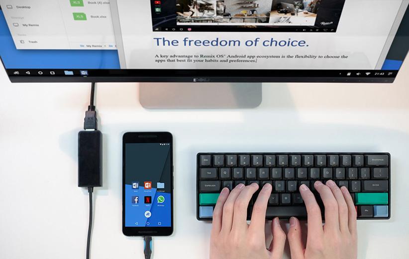 با Remix OS موبایل خودتان را به کامپیوتر رومیزی تبدیل کنید