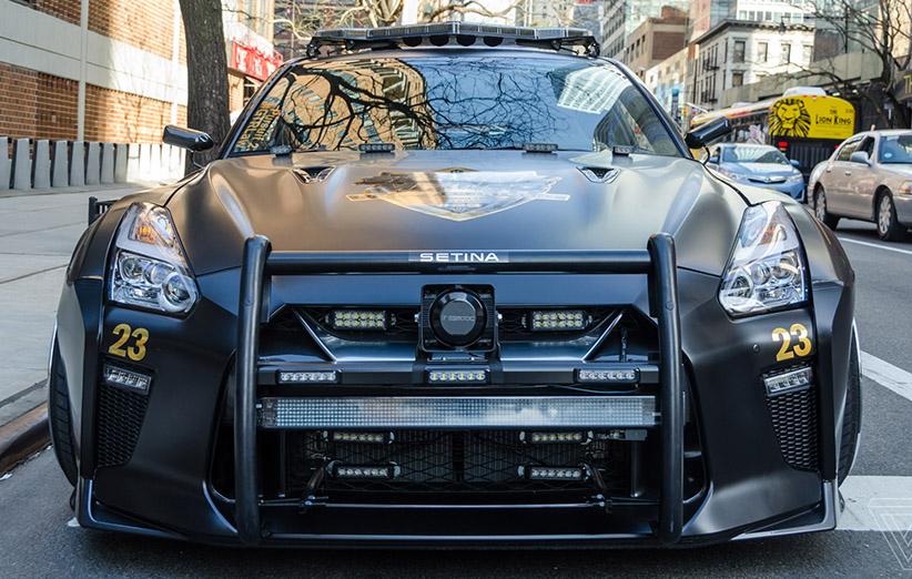 ندای وظیفه برای ژاپنی پرادعا، نیسان GT-R در لباس پلیس