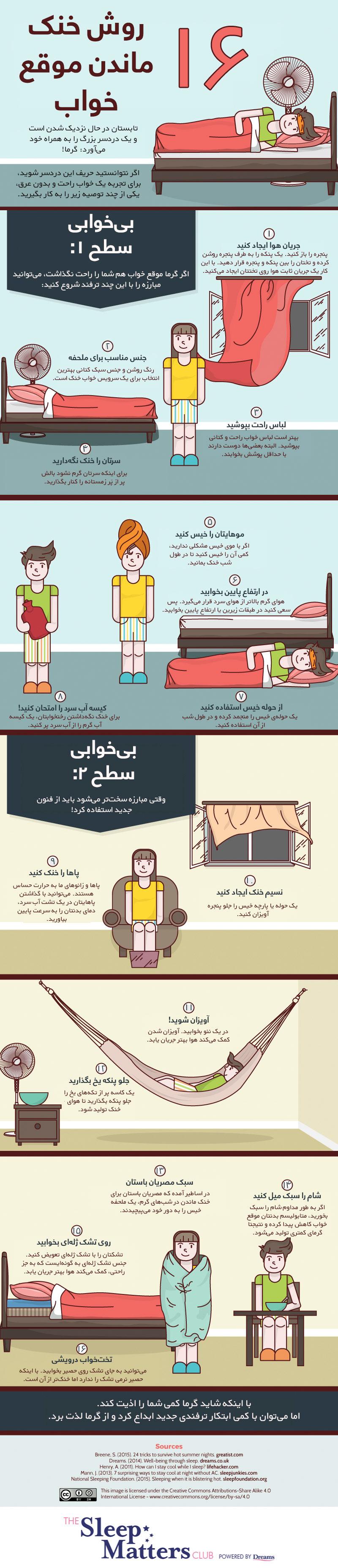 با چند روش ساده از گرمای تابستان در امان بمانیم !  [اینفوگرافیک]