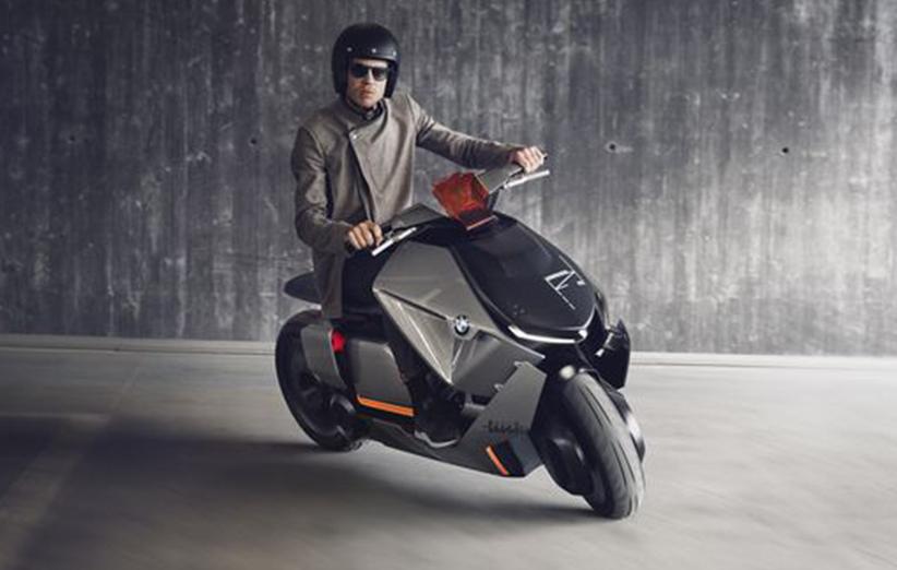 این موتورسیکلت مفهومی الکتریکی BMW، طراحی عجیب و غریبی دارد