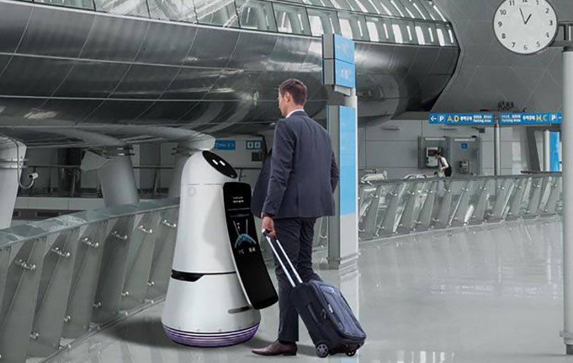 روباتهای فرودگاهی جدید شرکت الجی را ببینید