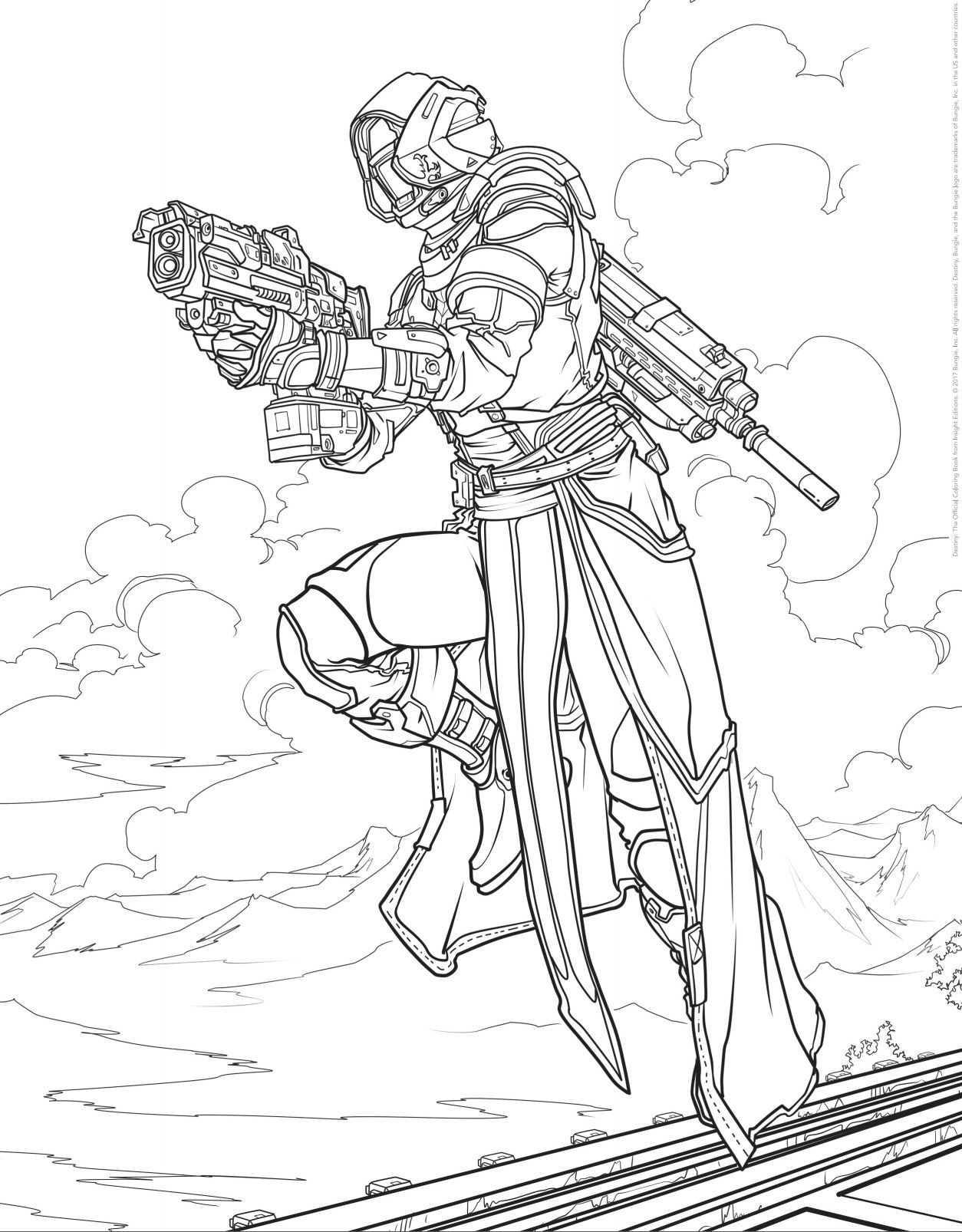 destiny characters hunter coloring pages - photo#16