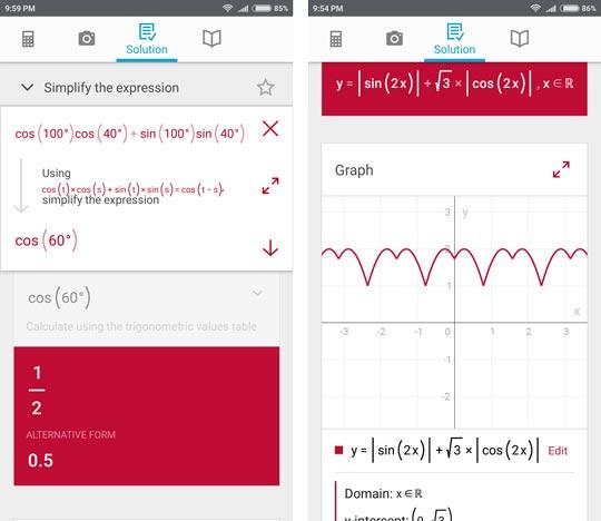 حل مسائل ریاضی با دوربین - نقد و بررسی اپلیکیشن Photomath