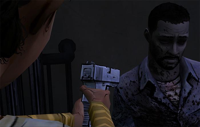 Lee before death in Walking Dead