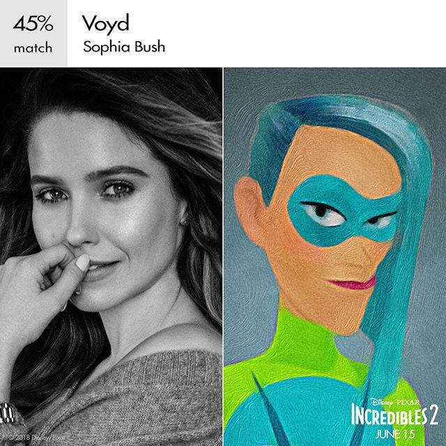 سوفیا بوش در نقش ووید