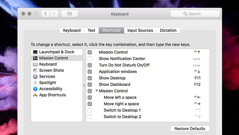 کلید های میانبر ویندوز 10