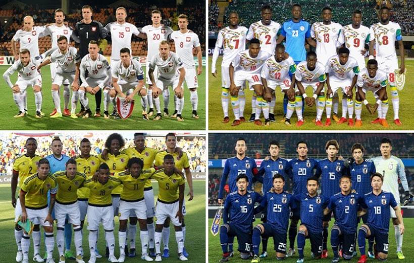 تیم های جام جهانی 2018